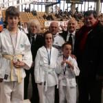 I giovani karateka con i Maestri Romani, Polleschi, Giusti, Carlesi